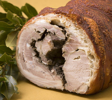 Porchetta Cariani, umbrian street food gourmet with pork